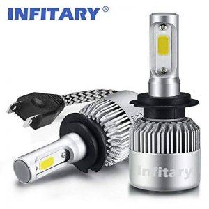 H7 LED Phare Ampoules Voiture Auto COB Lampe 72W 6500K 8000LM Super Bright de la marque Infitary image 0 produit