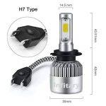 H7 LED Phare Ampoules Voiture Auto COB Lampe 72W 6500K 8000LM Super Bright de la marque Infitary image 2 produit
