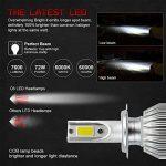 H7 LED phares Voiture Ampoules Kit, MIHAZ Super Bright Car LED Ampoules à phares, 72W 7600lm COB Ampoules Kit de conversion 12v Remplacer pour des ampoules halogènes ou HID de la marque MIHAZ image 3 produit