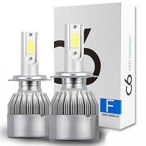 H7 LED phares Voiture Ampoules Kit, MIHAZ Super Bright Car LED Ampoules à phares, 72W 7600lm COB Ampoules Kit de conversion 12v Remplacer pour des ampoules halogènes ou HID de la marque MIHAZ image 0 produit