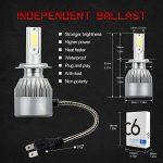 H7 LED phares Voiture Ampoules Kit, MIHAZ Super Bright Car LED Ampoules à phares, 72W 7600lm COB Ampoules Kit de conversion 12v Remplacer pour des ampoules halogènes ou HID de la marque MIHAZ image 1 produit