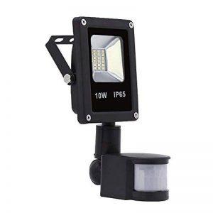 Hengda® 10W Blanc Chaud Projecteur LED détecteur de mouvement IP65 PIR extérieur Lampe de capteur infrarouge humain éclairage de sécurité Projecteur mural de la marque Hengda image 0 produit