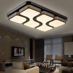 HG® 48W LED Plafonnier LED Lampe de Salon économie d'énergie économie d'énergie blanc chaud économie d'énergie salon de la marque huigou image 3 produit