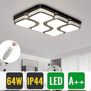 HG® 64W LED Plafonnier LED Lampe de Salon Dimmable Plafonnier Design Agréable Lumière Salon Éclairage Applique de la marque huigou image 0 produit