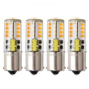 HGHC Ampoule LED BA15S 12 V AC/DC 1156 1141 S8 Seul Contact Base, étanche Lampe, 5 W Blanc chaud 3000 K 500LM pour Bateau, RV, Auto Voiture, extérieur Éclairage de Paysages, etc. (Lot de 4) de la marque HGHC image 0 produit