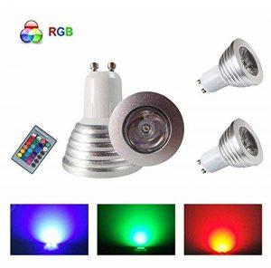 HHD® Lot de 2 RGB Ampoule LED 3W 16 Couleurs Changement Coloré RGB LED Bulb 250-270LM LED avec Télécommande à Boutons AC95-240V [Classe énergétique A+] de la marque HHD image 0 produit