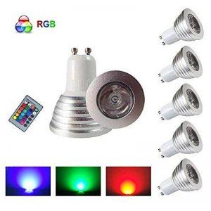 HHD® Lot de 5 RGB Ampoule LED 3W 16 Couleurs Changement Coloré RGB LED Bulb 250-270LM LED avec Télécommande à Boutons AC95-240V [Classe énergétique A+] de la marque HHD image 0 produit