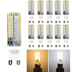 hibay en silicone G95W LED Spot ampoules LED AC 220–240V Blanc Chaud 2800–3200K non compatible avec variateur d'intensité équivalent 40W 360° 16x 59mm Lot de 10unités de la marque HiBay image 0 produit
