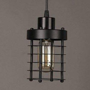 Histone Rétro de 1M de raies spectrales E14 10 * 18 cm rond lampes frontales et lampes lustre LED art chinois, black de la marque HCCX image 0 produit