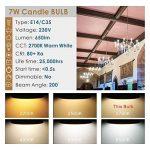 Hizashi 7W Ampoule LED E14, 650LM, Blanc Chaud 2700K, Équivalent à Ampoule Incandescente 60W, Non Dimmable, Lot de 6 de la marque Hizashi image 2 produit