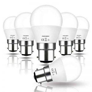 Hizashi 7W Ampoule LED G45 B22, 650LM, Blanc Chaud 2700K, Équivalent à Ampoule Incandescente 60W, Non Dimmable, Lot de 6 de la marque Hizashi image 0 produit