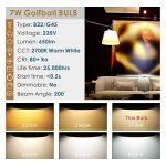Hizashi 7W Ampoule LED G45 B22, 650LM, Blanc Chaud 2700K, Équivalent à Ampoule Incandescente 60W, Non Dimmable, Lot de 6 de la marque Hizashi image 1 produit