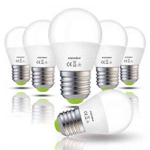 Hizashi 7W Ampoule LED G45 E27, 650LM, Blanc Chaud 2700K, Équivalent à Ampoule Incandescente 60W, Non Dimmable, Lot de 6 de la marque Hizashi image 0 produit