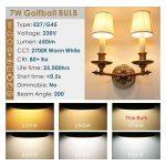 Hizashi 7W Ampoule LED G45 E27, 650LM, Blanc Chaud 2700K, Équivalent à Ampoule Incandescente 60W, Non Dimmable, Lot de 6 de la marque Hizashi image 1 produit