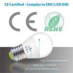 Hizashi 7W Ampoule LED G45 E27, 650LM, Blanc Chaud 2700K, Équivalent à Ampoule Incandescente 60W, Non Dimmable, Lot de 6 de la marque Hizashi image 4 produit