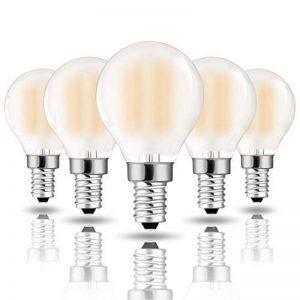 Hizashi 90+ CRI 6W Dimmable LED Ampoules SES, entièrement réglable en intensité, 2700K Blanc Chaud, LED Golfball petite vis Edison, équivalent 60Watt, Culot E14, lot de 5 de la marque HIZASHI image 0 produit