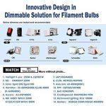 Hizashi Edison Ampoule LED, Dimmable, 8W 750LM ST64 LED Vintage Ampoule Décorative E27, Équivalent 75W Halogène Ampoule, Blanc Chaud 2200K, Lot de 4 de la marque Hizashi image 4 produit