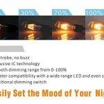 Hizashi Edison Ampoule LED, Dimmable, 8W 750LM ST64 LED Vintage Ampoule Décorative E27, Équivalent 75W Halogène Ampoule, Blanc Chaud 2200K, Lot de 4 de la marque Hizashi image 3 produit