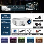 Home Theater WiFi Bluetooth Projector 3200 Lumen 1280x800 Resolution Support HD 1080P HDMI Wireless LCD Outdoor Movie Projectors Android OS for Smartphone Laptop Apps Games de la marque WIKISH image 1 produit