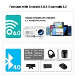 Home Theater WiFi Bluetooth Projector 3200 Lumen 1280x800 Resolution Support HD 1080P HDMI Wireless LCD Outdoor Movie Projectors Android OS for Smartphone Laptop Apps Games de la marque WIKISH image 2 produit