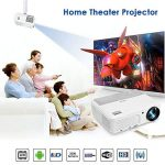 Home Theater WiFi Bluetooth Projector 3200 Lumen 1280x800 Resolution Support HD 1080P HDMI Wireless LCD Outdoor Movie Projectors Android OS for Smartphone Laptop Apps Games de la marque WIKISH image 3 produit