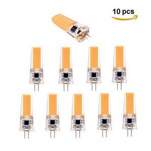 Homeny G4 3W LED Ampoule 10 Pack 1505 SMD Ampoule LED équivalente à 25W Halogène 450 Lumens AC / DC 12V-24V Angle de Faisceau 360 ° non Graduable , Warm White 3000K de la marque HomenyLight image 0 produit