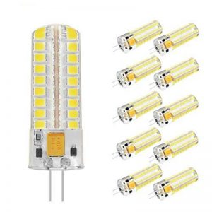 Homeny G4 7W Ampoule LED Lampe de maïs AC/DC 12V 550 Lumen LED Tube pour Remplacer 60W Lampe Halogène Blanc Froid 5500K 360 Degrés Angle de Lumière 10pack de la marque HomenyLight image 0 produit