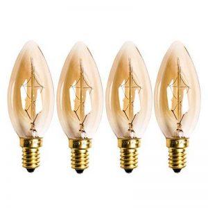 Homestia C35 Bougie Ampoules à Incandescence 220V 40W E14 Rétro Edison Ampoule Antique Lampe (Lot de 4) de la marque Homestia image 0 produit