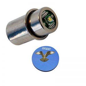 HQRP Ampoule LED 3W 200LM à haute puissance pour MagLight S2D016 / S2C015 / S2C016 / S2D096 / S2D106 / S2D115 / S2D116 / S2D986 / S3C015 / ST2DDX6 / ST2P016 / ST2P036 + HQRP Sous-verre de la marque HQRP image 0 produit