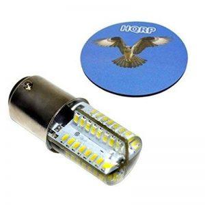 HQRP Ampoule LED pour machines à coudre BA15d 64 LEDs SMD 2835 3W 220V 300-350 Lm (blanc froid 6000-6500K) de la marque HQRP image 0 produit