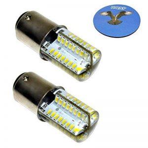 HQRP Paquet de 2 ampoules LED B15d / BA15d 220V 300-350 Lumens 3W 64 LEDs blanc froid 6000K-6500K pour machines à coudre Singer, Husqvarna, Bernina, Pfaff de la marque HQRP image 0 produit