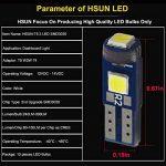 Hsun T5747327232721Base ampoule LED avec 3pièces LED Smd3030Wedge ampoule LED pour tableau de bord de voiture Instrument Panneau de jauge de lecture lumière lampe de remplacement 12V 50LM 6500K Blanc, Lot de 10 de la marque HSUN image 4 produit
