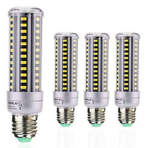 HUIERLAI 4x 15W E27 Ampoule LED Maïs Spot Light Blub Lampe 1380 Lumen Équivalent 120W Incandescent Angle de Faisceau 360° 6000K Blanc Froid Pour Garage Entrepôt Résidentiel éclairage Commercial de la marque HUIERLAI image 0 produit