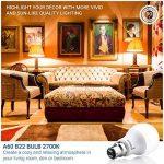 Hyperikon 9W Ampoule LED, Culot B22, Forme Classique A, Blanc Chaud 2700K, GLS ampoule baïonnette, Lot de 4 de la marque Hyperikon image 4 produit