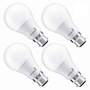 Hyperikon 9W Ampoule LED, Culot B22, Forme Classique A, Blanc Chaud 3000K, GLS ampoule baïonnette, Lot de 4 de la marque Hyperikon image 0 produit