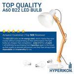 Hyperikon 9W Ampoule LED, Culot B22, Forme Classique A, Blanc Chaud 3000K, GLS ampoule baïonnette, Lot de 4 de la marque Hyperikon image 1 produit