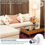 Hyperikon 9W Ampoule LED, Culot B22, Forme Classique A, Blanc Chaud 3000K, GLS ampoule baïonnette, Lot de 4 de la marque Hyperikon image 4 produit