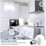 Hyperikon 9W Ampoule LED, Culot B22, Forme Classique A, Blanc Froid 4000K, GLS ampoule baïonnette, Lot de 12 de la marque Hyperikon image 4 produit