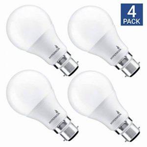 Hyperikon 9W Ampoule LED, Culot B22, Forme Classique A, Blanc Froid 4000K, GLS ampoule baïonnette, Lot de 4 de la marque Hyperikon image 0 produit