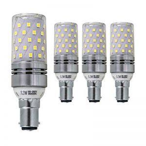 Hzsane B15LED ampoule à maïs 12W, 100W équivalent ampoules à incandescence, 6000K Blanc lumière du jour, 1200LM, B15 Petite casquette à baïonnette Ampoules à LED, 4-Pack de la marque Hzsane image 0 produit