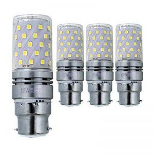 Hzsane B22LED ampoule à maïs 12W, 100W équivalent ampoules à incandescence, 6000K Blanc lumière du jour, 1200LM, B22 Casquette à baïonnette Ampoules à LED, 4-Pack de la marque Hzsane image 0 produit