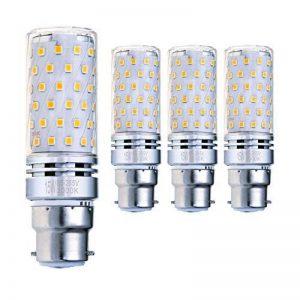 Hzsane B22LED Ampoule à Maïs 15W, 120W Équivalent Ampoules à Incandescence, 3000K Blanc Chaud, 1500LM, B22 Casquette à Baïonnette Ampoules à LED, 4-Pack de la marque Hzsane image 0 produit