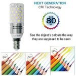 Hzsane E14LED ampoule à maïs 12W, 100W équivalent ampoules à incandescence, 6000K Blanc lumière du jour Chandelier E14SES ampoules, non dimmable, 1200LM, ampoule LED, culot à vis Edison Ampoules, 4-pack de la marque Hzsane image 4 produit