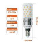 Hzsane E14LED ampoule à maïs 12W, 100W équivalent ampoules à incandescence, 3000K Blanc chaud Chandelier E14SES ampoules, non dimmable, 1200LM, ampoule LED, culot à vis Edison Ampoules, 4-pack de la marque Hzsane image 1 produit