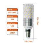 Hzsane E14LED ampoule à maïs 12W, 100W équivalent ampoules à incandescence, 6000K Blanc lumière du jour Chandelier E14SES ampoules, non dimmable, 1200LM, ampoule LED, culot à vis Edison Ampoules, 4-pack de la marque Hzsane image 1 produit