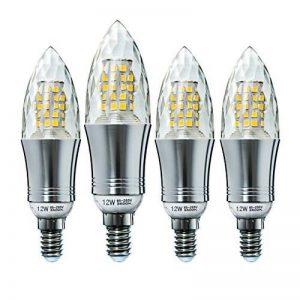 Hzsane E14LED bougie ampoules 12W, 100W équivalent ampoules à incandescence, 3500K Blanc chaud Chandelier E14SES ampoules, non dimmable, 1200LM, ampoule LED, culot à vis Edison Ampoules, coquille de cristal, 4-pack de la marque HzSane image 0 produit