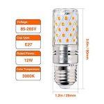 Hzsane E27LED ampoule à maïs 12W, 100W équivalent ampoules à incandescence, 3000K Blanc chaud Chandelier E27 ampoules, 1200LM, ampoule LED, culot à vis Edison Ampoules, 4-pack de la marque Hzsane image 1 produit