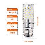 Hzsane E27LED ampoule à maïs 12W, 100W équivalent ampoules à incandescence, 6000K Blanc lumière du jour Chandelier E27 ampoules, 1200LM, ampoule LED, culot à vis Edison Ampoules, 4-pack de la marque Hzsane image 1 produit