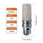 Hzsane E27LED ampoule à maïs 15W, 120W équivalent ampoules à incandescence, 3000K Blanc chaud Chandelier E27 ampoules, 1500LM, ampoule LED, culot à vis Edison Ampoules, 4-pack de la marque Hzsane image 1 produit
