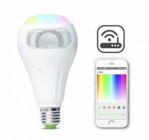 iHomma Smart WiFi Ampoule avec haut-parleur Bluetooth, Contrôle APP, Dimmable,2700~6500K+Multi Couleurs,12W,900LM de la marque iHomma image 0 produit